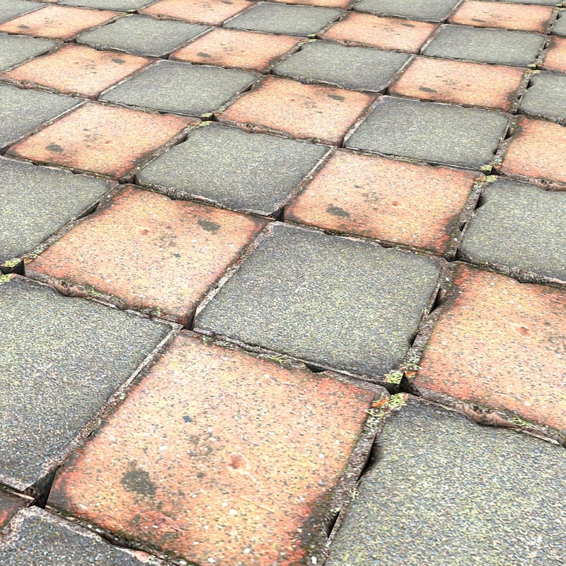stone pavement floor 3d model