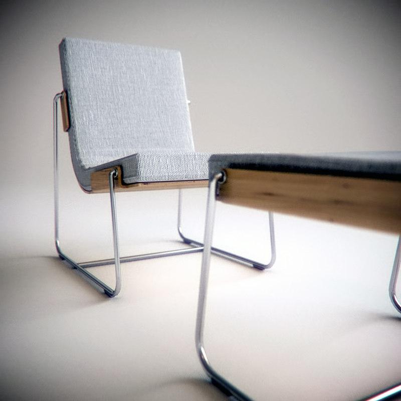 3d pancras lounge chair