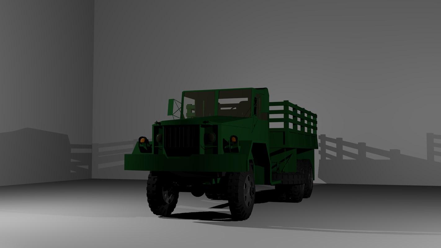 m35 truck 3d blend