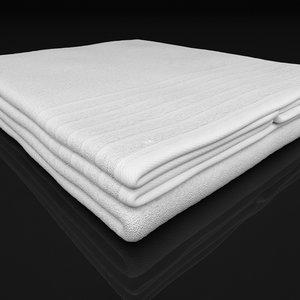towel folded 3d model