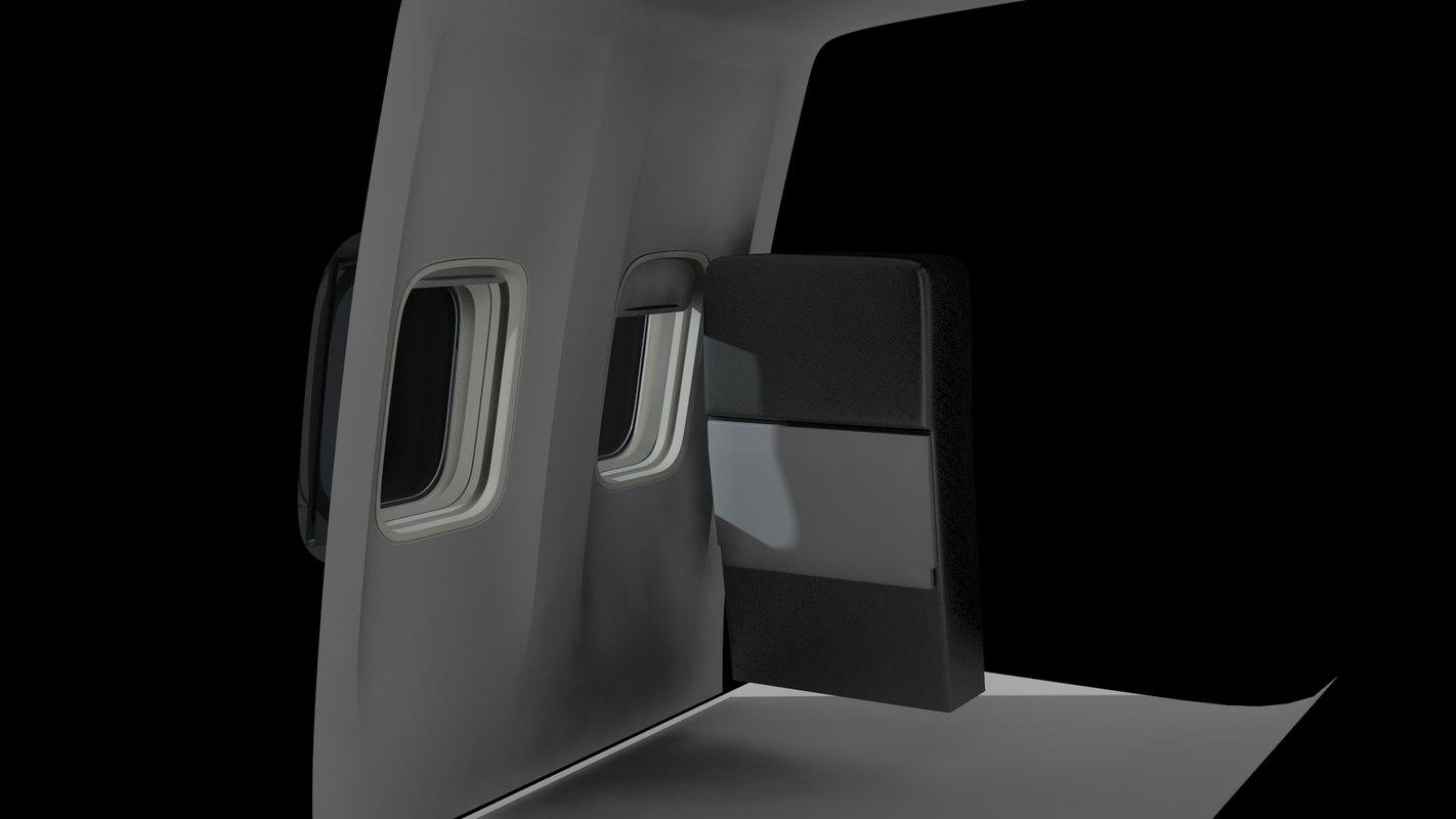free cabin 737 3d model