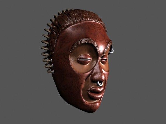 3d model african mask