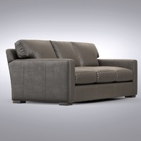 Crate and Barrel - Axis Leather 3-Seat Queen Sleeper Sofa