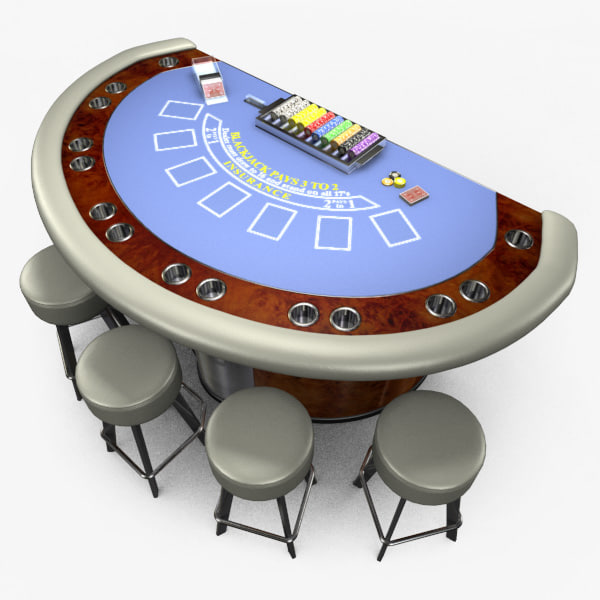 3d model casino blackjack table -