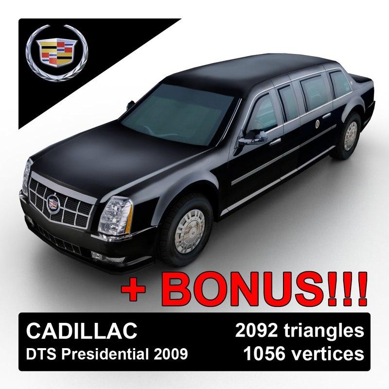 3d model 2009 cadillac dts limousine