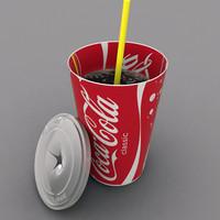 3d coca cola cup model