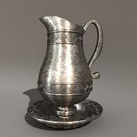 3d tin pot model