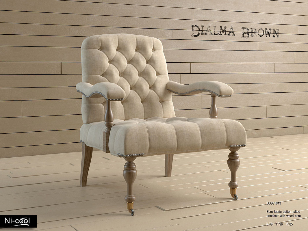 3d armchair dialma db001843 model