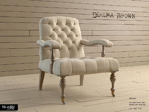 3d armchair dialma db001843 model