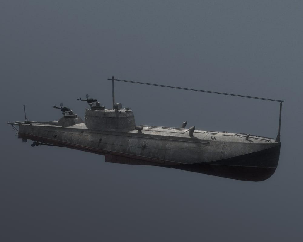 g5 torpedo boat 3d obj