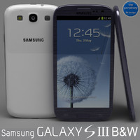 Samsung Galaxy S III Blue and White