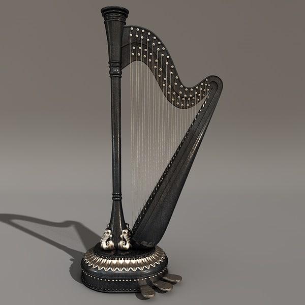 c4d harp