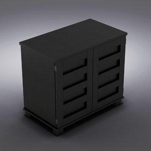 3d crate barrel - hendrix model