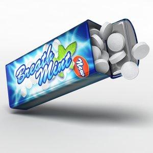candies tin box 3d model