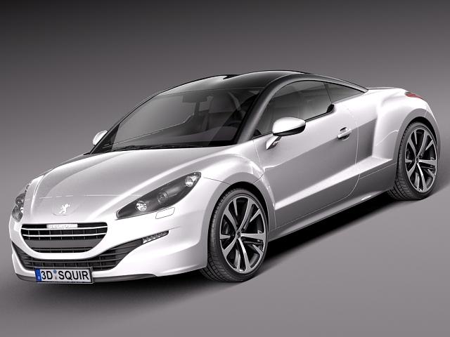 peugeot rcz 2013 sport car 3d max