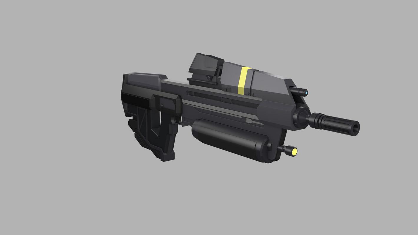 3d halo reach ma-37 assault rifle