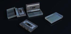 3d obj cassette tape case
