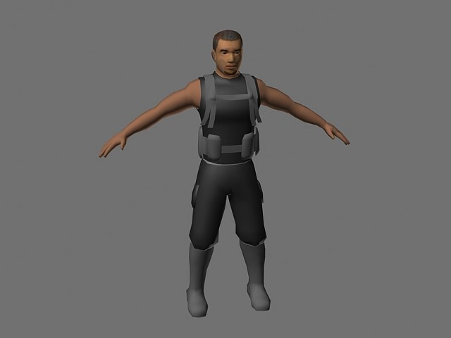 character male soldier max