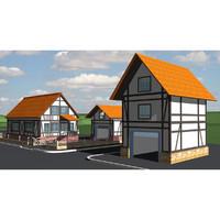 modern village 3ds