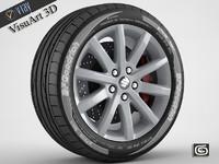 suzuki sx4 rim tire 3d 3ds