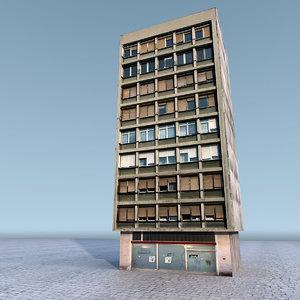 3d residential building model