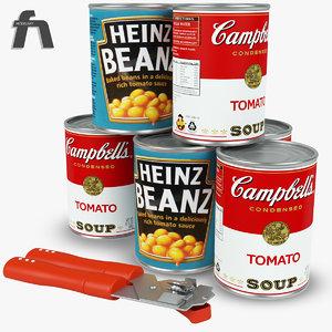 campbell tomatoe beans 3d model