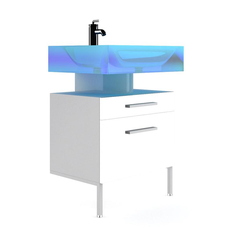 blue glass sink max