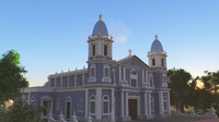 3dsmax church colonial style
