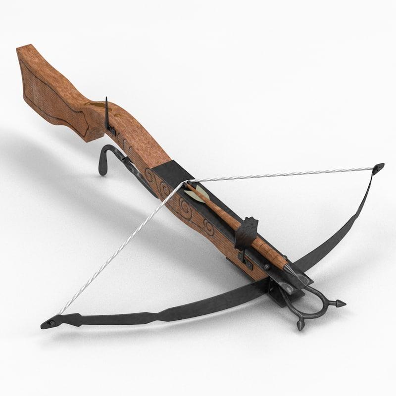 3d crossbow arrow