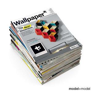 magazines covers casa 3d model