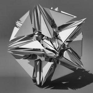 voronoi tesselation abstract 3d model
