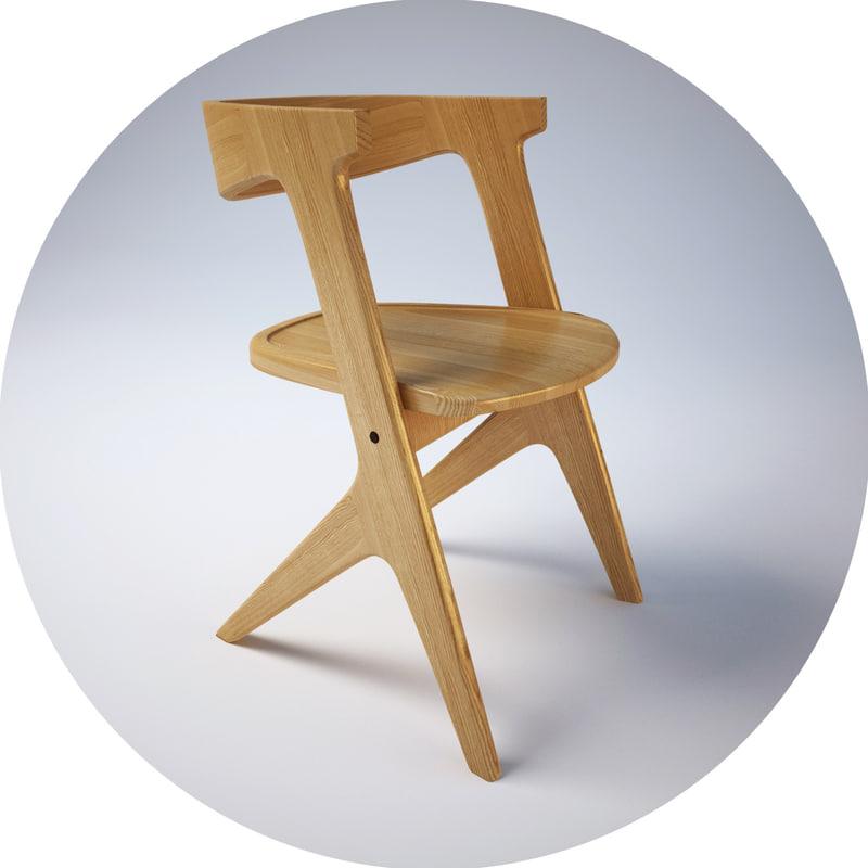 slab chair 3d max