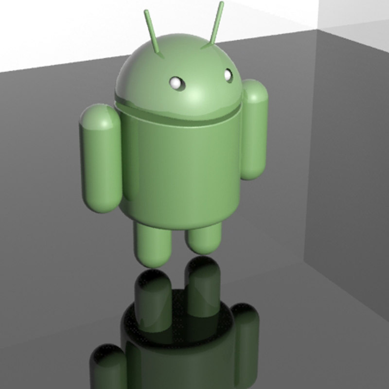 3d android mascot
