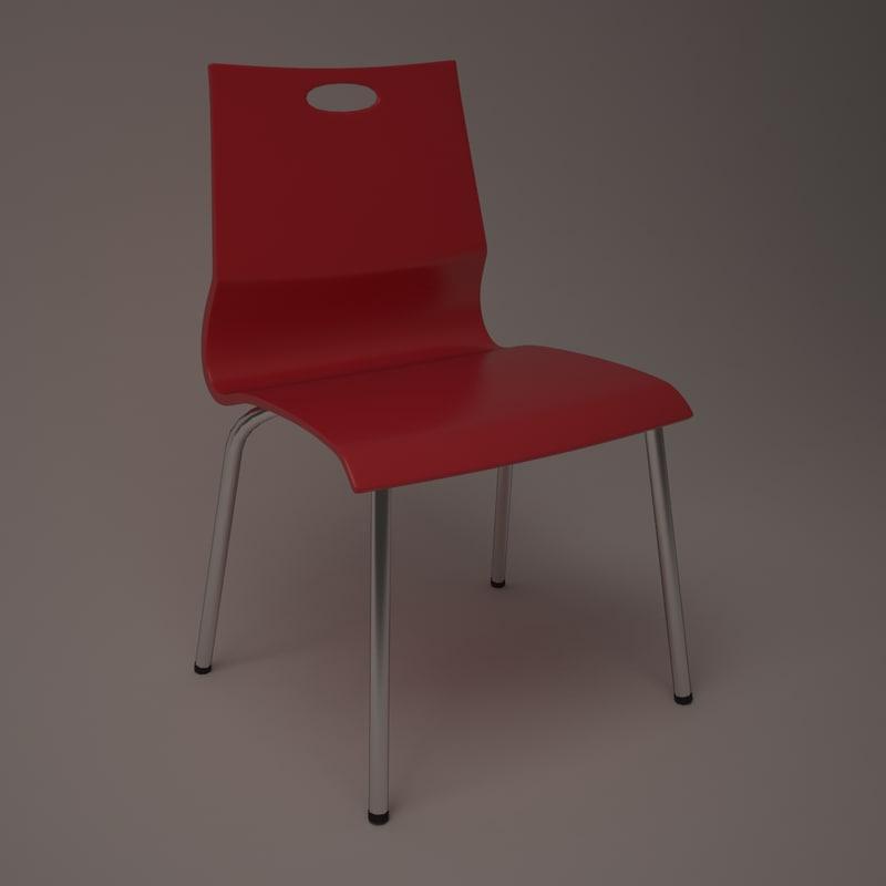 designed chair plastic 3d max