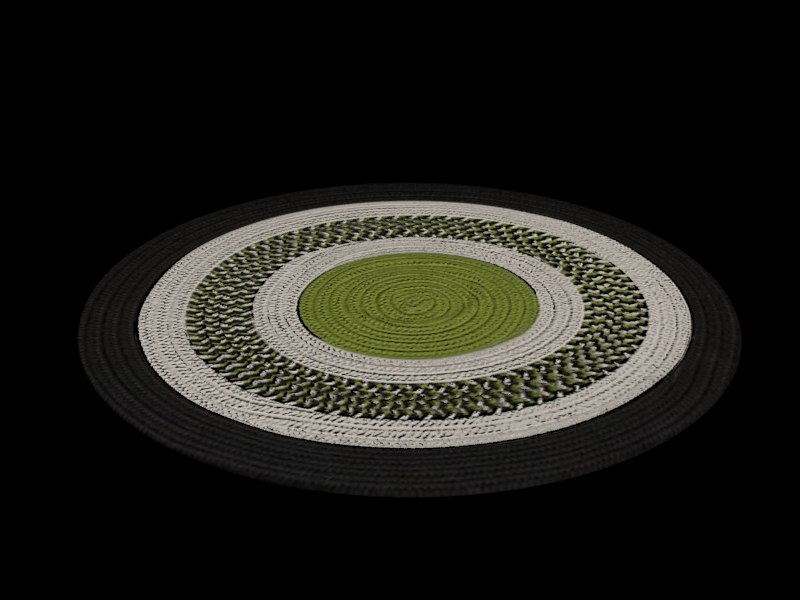3d model circle rug