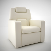 3d model home leather seat