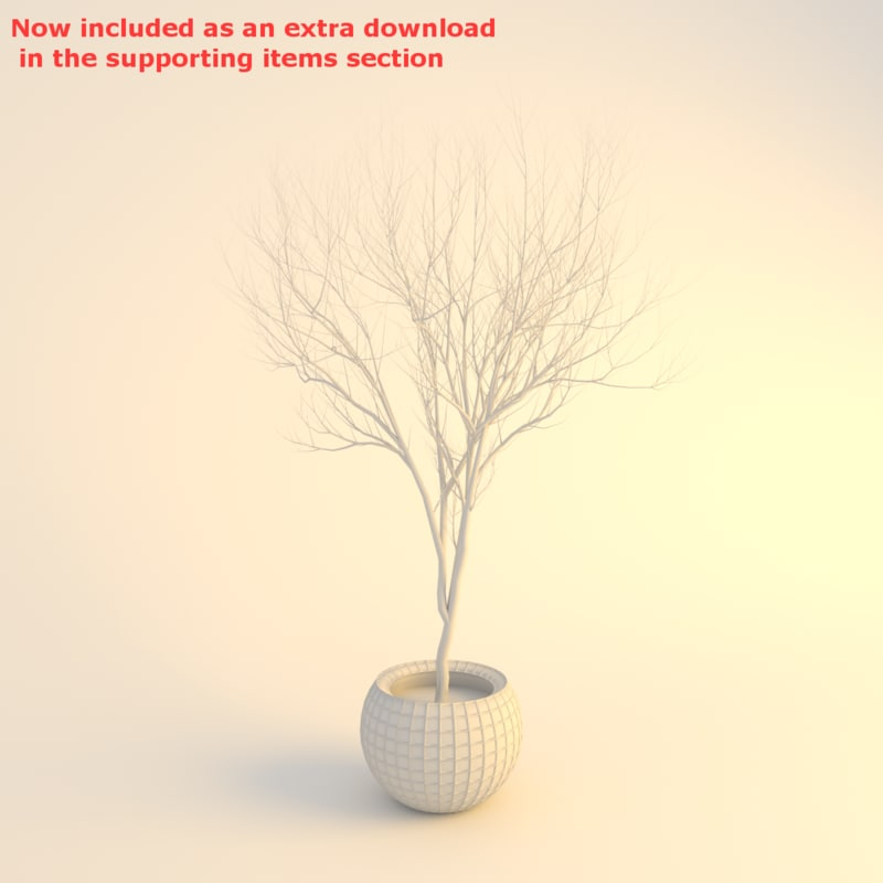 3d tree potted model