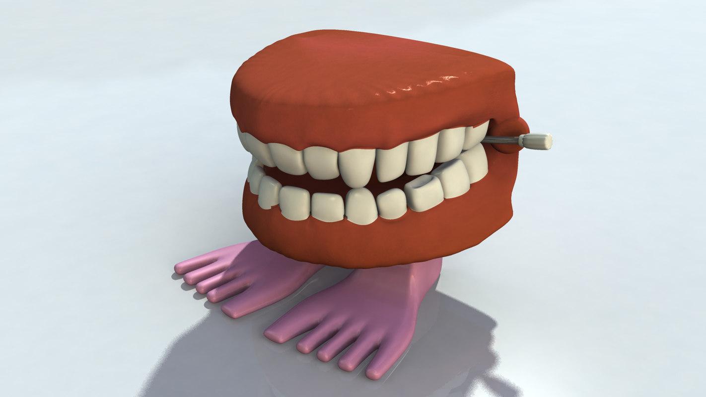 3d chatter teeth model