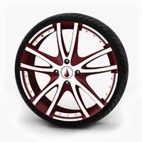 3dsmax alloy wheel tire