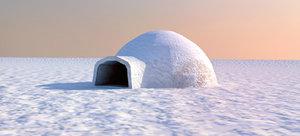 3d model igloo lowres
