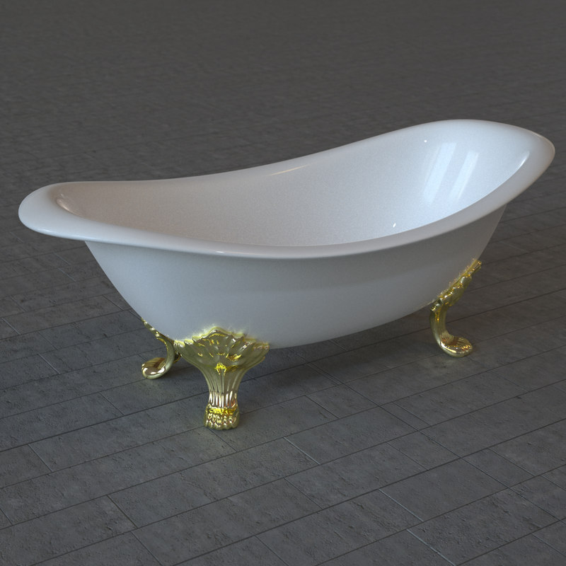 bath tub bathtub 3d fbx