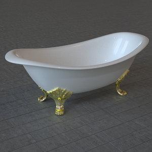 bath tub bathtub 3d fbx