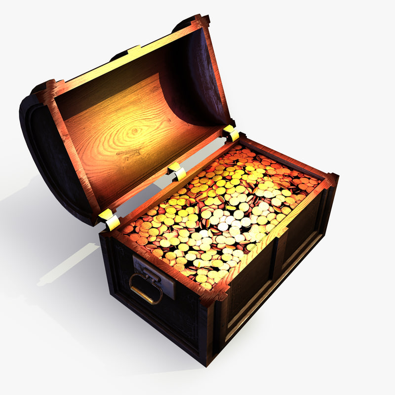 treasure chest 2 3d max