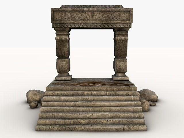 ancient stone entrance 3ds