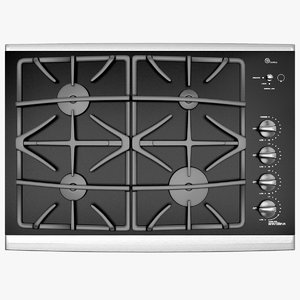 3d stylish dark gas cooktop model
