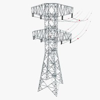 3d electric pylon model