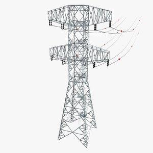 3d electric pylon model