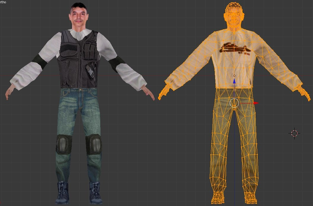 pedestrian urban soldier 3d model