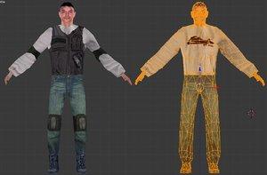 pedestrian urban soldier 3d model