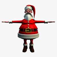 3ds cartoon character ted santa claus